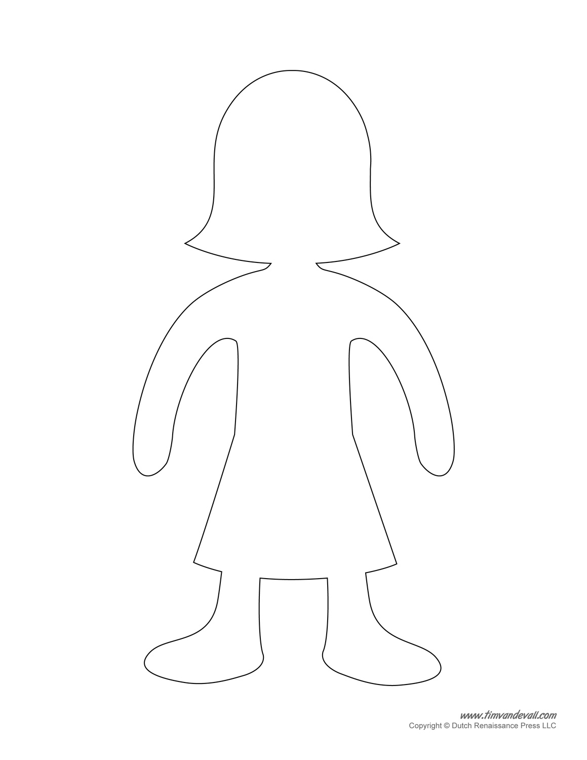 Printable Paper Doll Templates