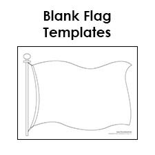 Blank Flag Template Printable