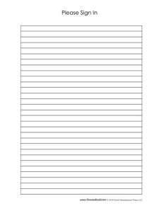 Sign In Sheet Template #10