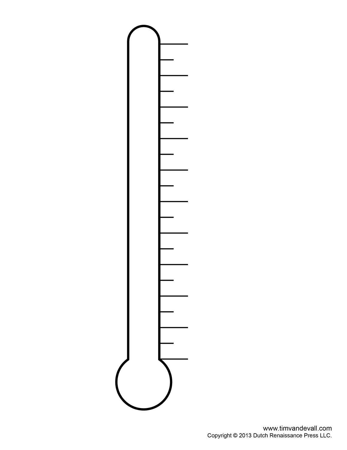 Fundraising Thermometer Template