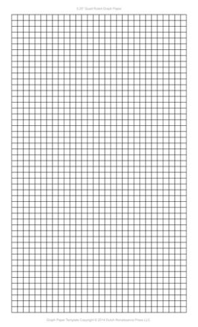 1/4 Inch Graph Paper Template, Legal PDF