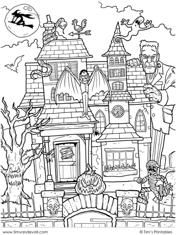 haunted-house-coloring-page
