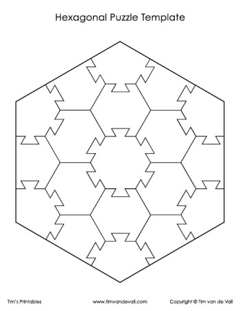 hexagonal puzzle template