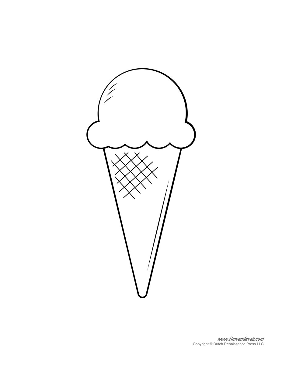 Открытка мороженое шаблон