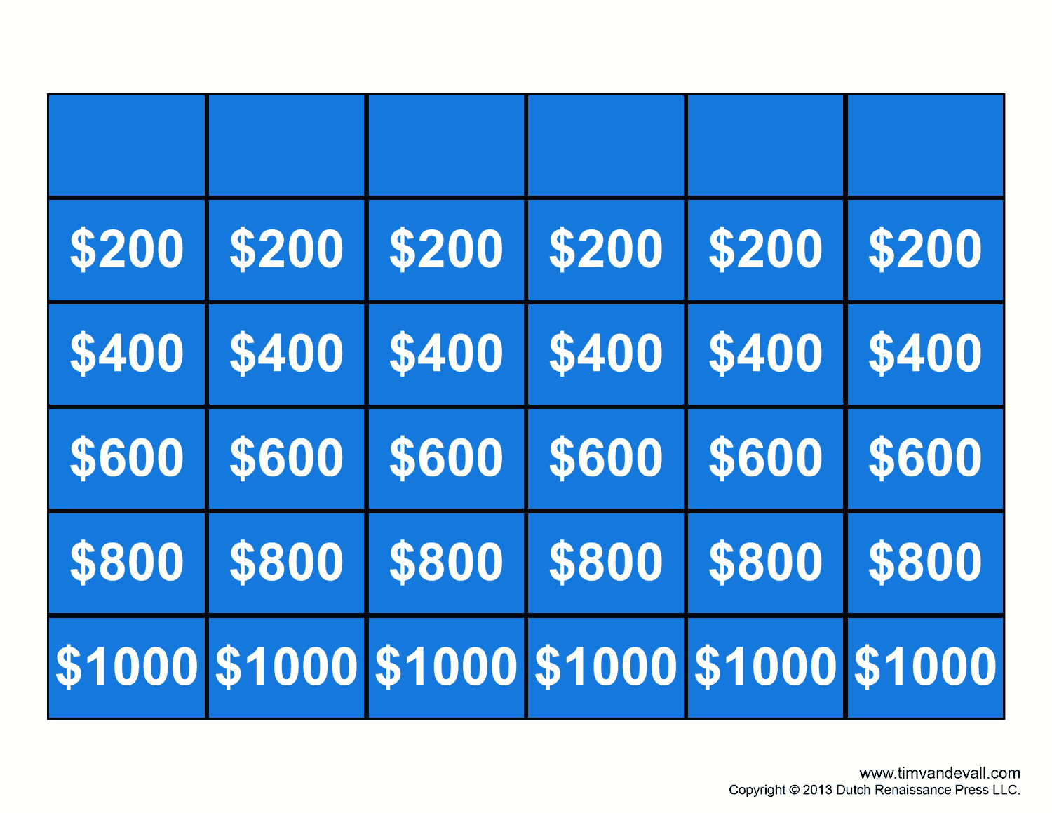 Free Jeopardy Template Make Your Own Jeopardy Game