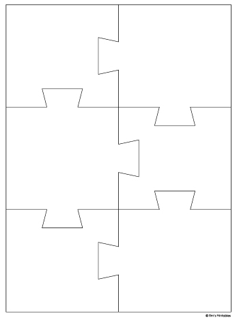 Jigsaw Puzzle Template - 6 Pieces