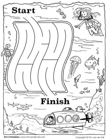Kindergarten Maze - Divers