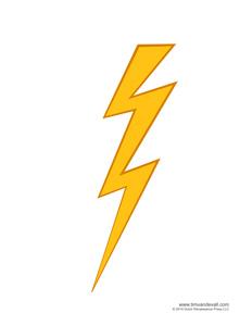 Lightning Bolt Printable