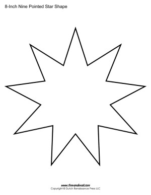 nine sided star shape