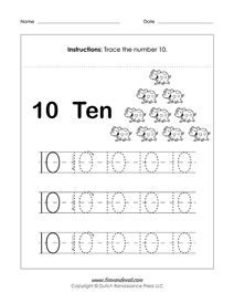 number tracing worksheets for kids