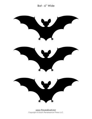 Printable Bat Outlines & Bat Silhouettes