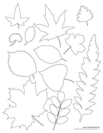 printable leaf templates