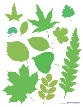 printable leaves