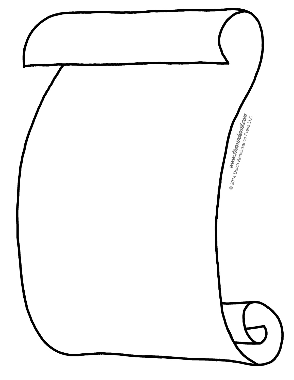 Blank Scroll Coloring Page