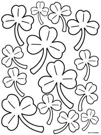 three leaf clover templates
