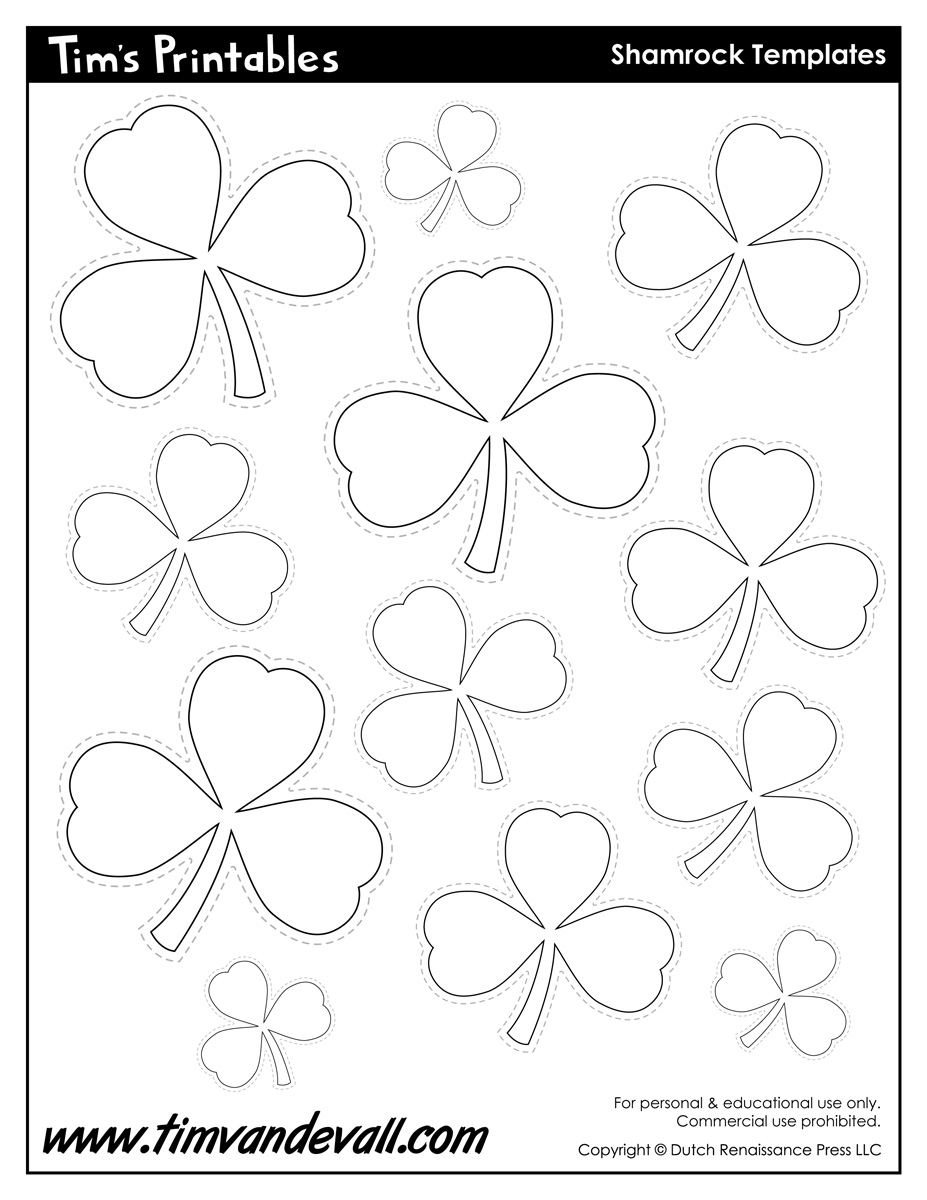 It is a graphic of Shamrock Template Printable Free regarding holy trinity