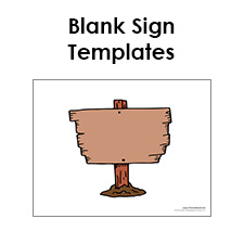free printable sign templates blank sign pdfs