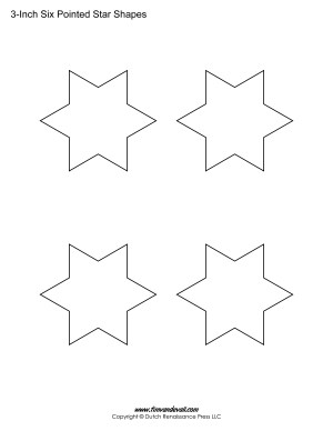 6 pointed stars