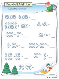 Snowball Addition Worksheet