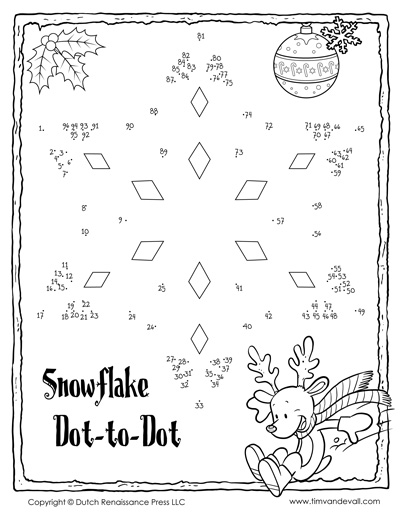 snowflake dot to dot