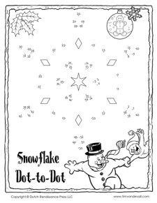 Snowflake Dot-to-Dot #3