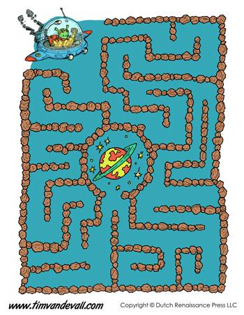 printable maze easy