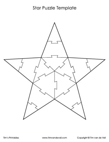 star puzzle template