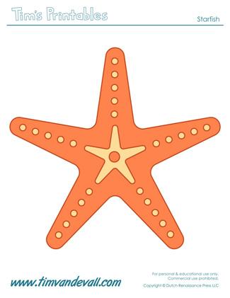 Starfish Template