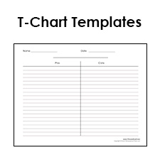 Blank T Chart Templates Printable Compare And Contrast Chart Pdfs