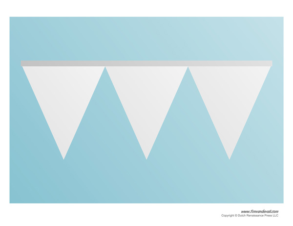 triangle banner templates