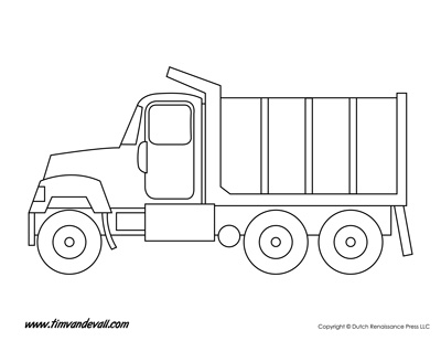 Printable Truck Templates for Kids