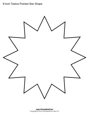 twelve sided star shape