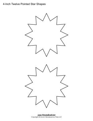twelve sided stars