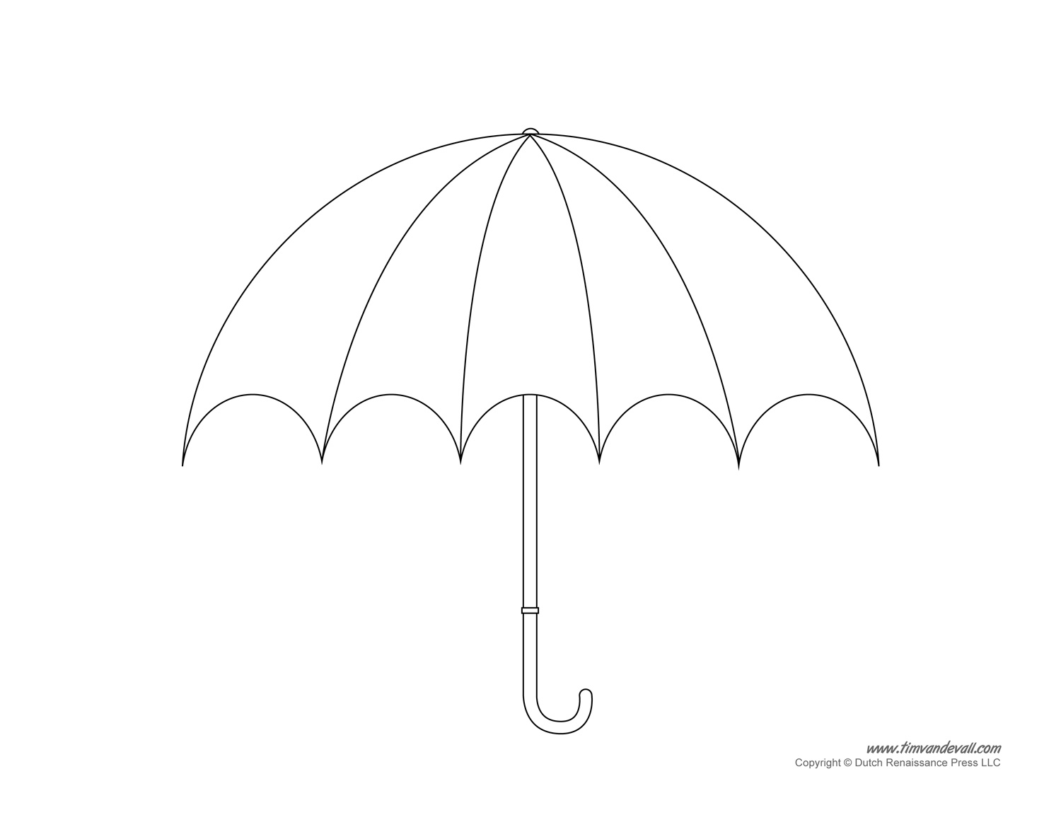Umbrella Template Printables