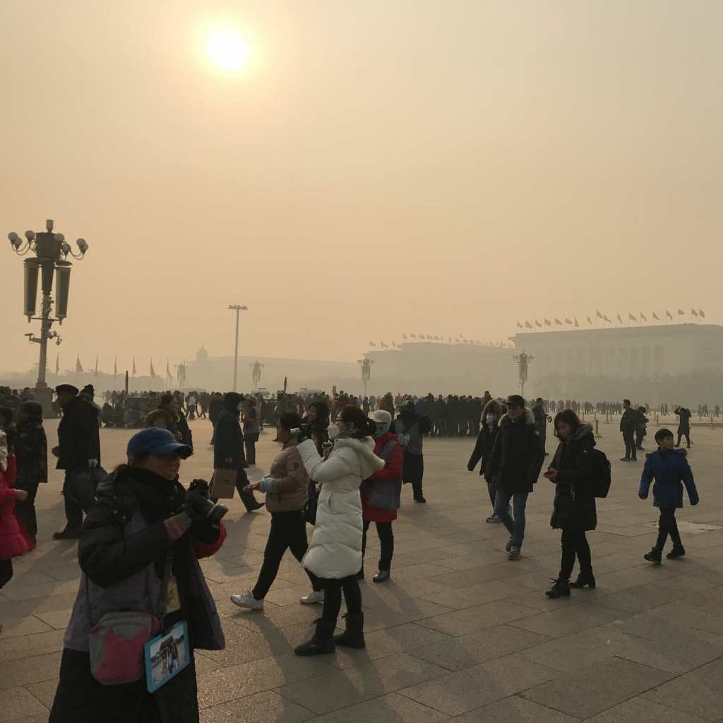 Beijing-Smog-Tiananmen-Plein