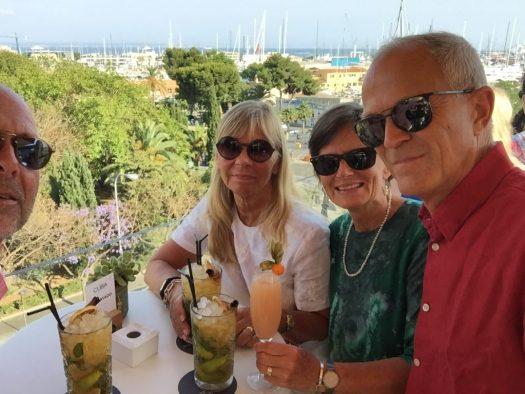 Mallorcautflykt med kompisar