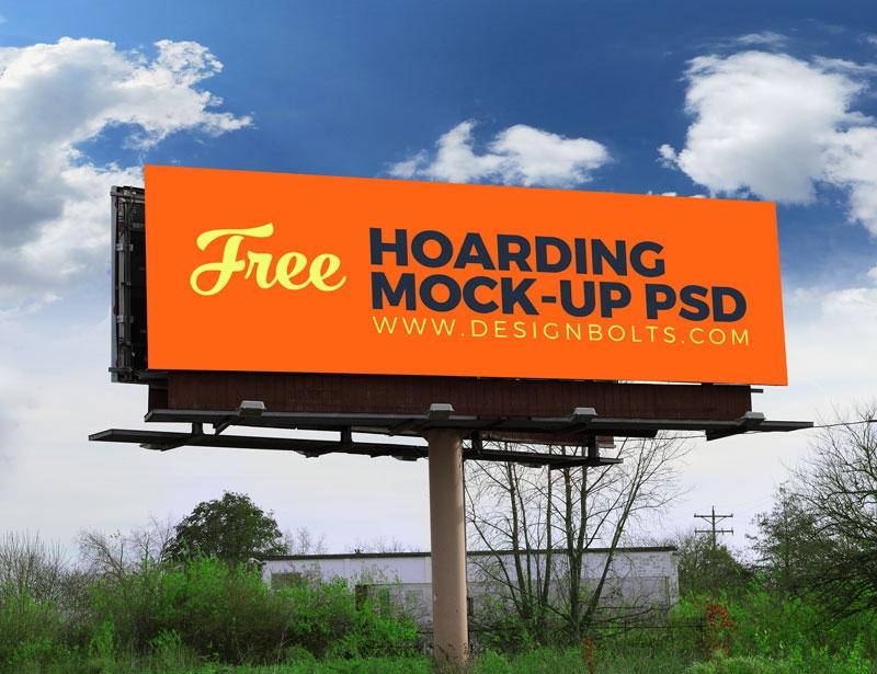 2 free outdoor advertising billboard hoarding mockup psd files