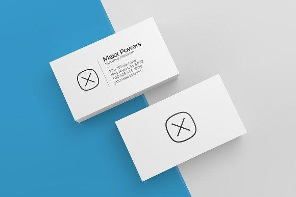 3 blank business cards mockup linepeak design on creativemarket