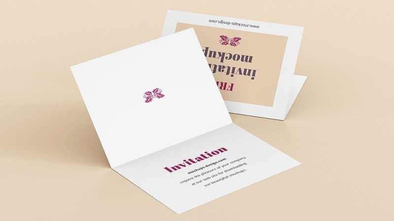 30 elegant invitation greeting card mockup designs psd