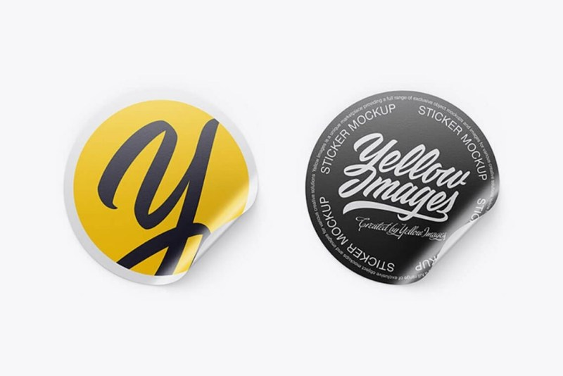 85 gleaming sticker mockups free premium the designest