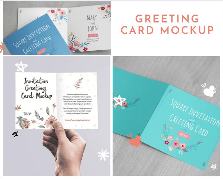 Free Greeting Card Mockup Template