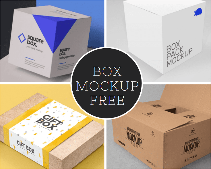 PSD Box Mockup Free