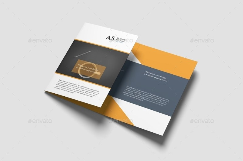 a5 trifold brochure mockup graphiccrew graphicriver