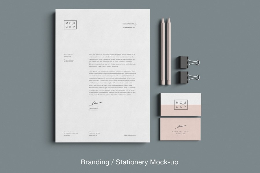 advanced branding stationery mockup free design resources