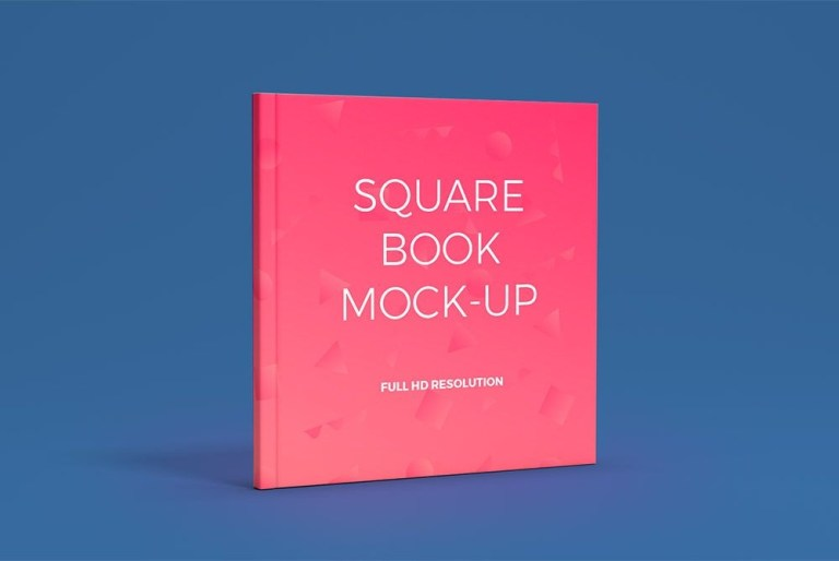 awesome square book cover mockup free psd download square book