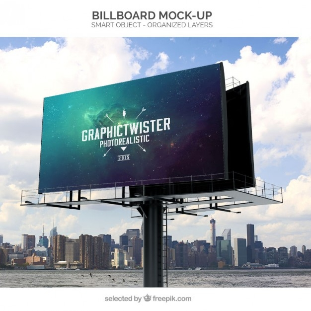 billboard mockup psd file free download