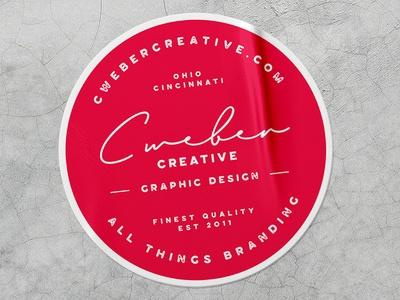 branded sticker mockup chelsea weber on dribbble