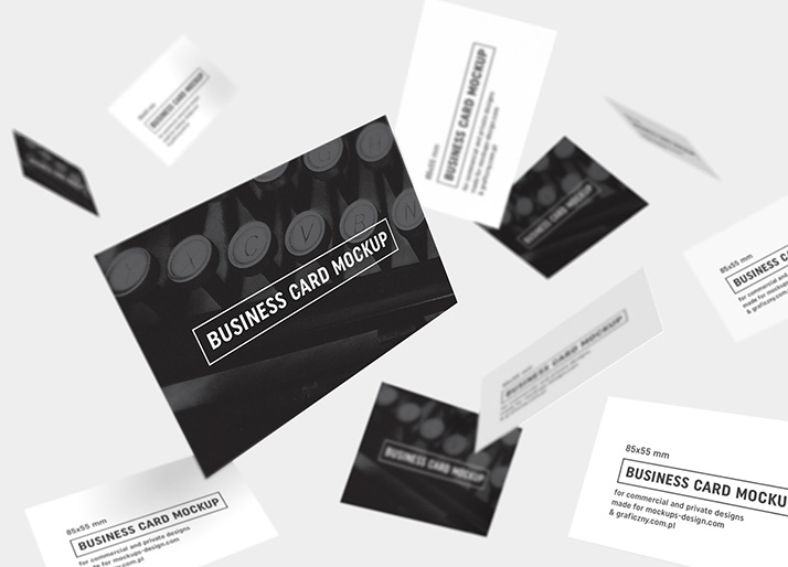 business cards mockup 85x55 mm mockups design free premium mockups