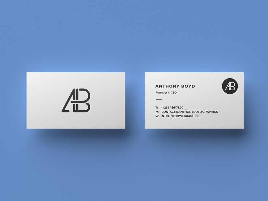 clean business card mockup mockup love