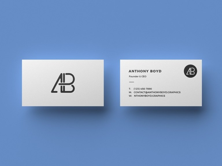 clean business card mockup mockup love